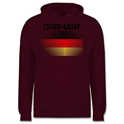 EM 2016 - Frankreich - Germany Flagge - Männer Premium Kapuzenpullover / Hoodie Burgundrot