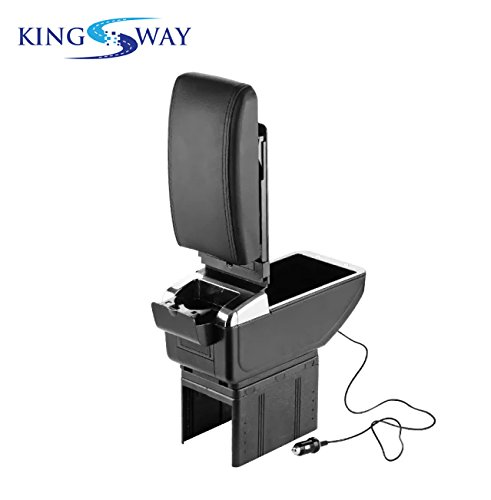 kingsway premium car arm rest with usb ports, glass holder and ashtray for ford old fiesta (black color, plastic) Kingsway Premium Car Arm Rest with USB Ports, Glass Holder and Ashtray for Ford Old Fiesta (Black Color, Plastic) 41m usO5X3L