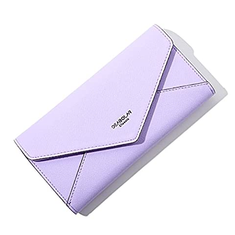 Ulisc Hot Fashion Envelope Women Wallet Three Fold PU Leather Wallet Long Purse Coin Pocket Card Holder