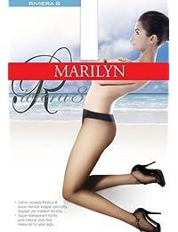 Marilyn supertransparente Strumpfhose, natürlicher Look wie Make-Up für die Beine, mit Komfort-Taillenband, 8 Denier