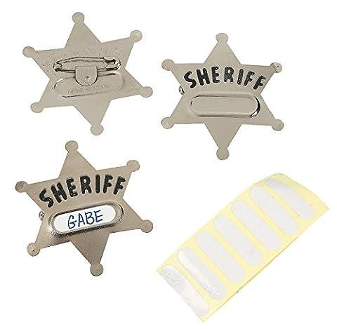 Fun Express Metal Sheriff's Badges (1 Dozen)