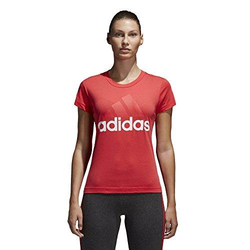 Adidas ess li sli tee, maglietta donna, reacor bianco, l