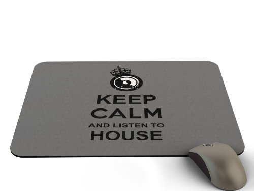 Preisvergleich Produktbild Stylotex Mauspad Keep Calm and listen to House