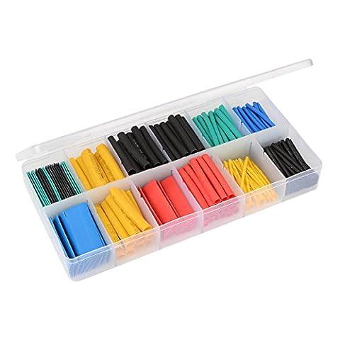 IDEALEBEN Tubes thermorétractables polyoléfine 280 pièces avec boîte plastique …