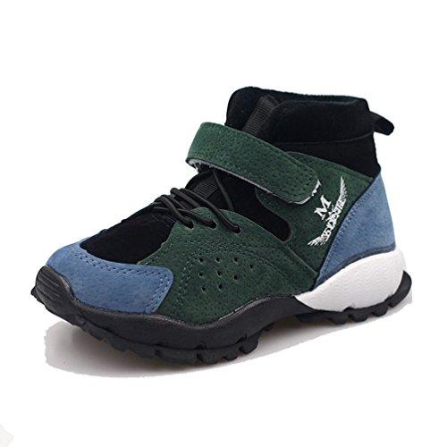 Kinder Schuhe High Top Velcro Anti-Rutsch-Mode Wildleder Leder Booties für Jungen Mädchen (Kleinkind, Kleine Kinder) (11 Kleinkind-high-tops-größe)