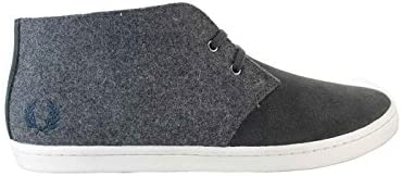 Fred Perry Byron Mid Felt Suede Anchor Grey