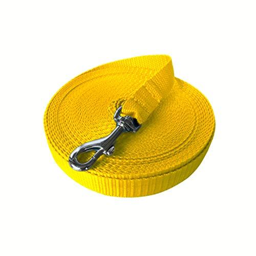 VAN WEEGEN Primo Schleppleine für kleine bis mittelgroße Hunde & Welpen bis 15 kg (10m, Gelb) - Kleiner Van