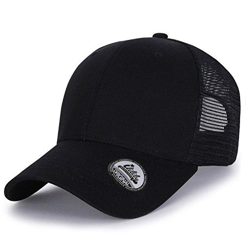 Vintage Fitted Cap (ililily Extra Big Size Adjustable Mesh Back Curved Baseball Cap Trucker Hat (ballcap-1258-1))