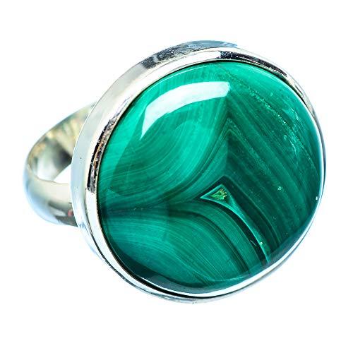 Malachite, Malachit 925 Sterling Silber Ring 9