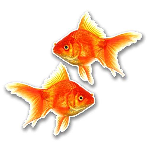 2-x-10cm-goldfish-vinyl-sticker-decal-laptop-kids-car-fish-aquarium-gift-6289-10cm-wide-x-82cm-tall
