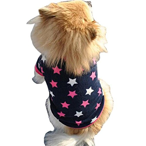 Ropa para perros Sannysis Mascotas chaleco para perros color de estrella (XS)