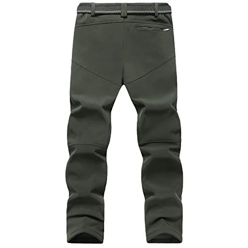 41m yvSy%2BKL. SS500  - Mirecoo Men's Waterproof Outdoor Sports Pants Climbing Pants Soft Shell Fleece Cotton Padded Breathable Pro Active Men's Trousers Plus size XS-5XL