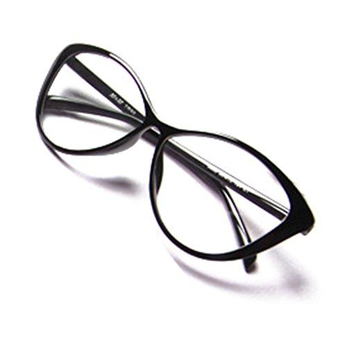 Hibote Männer Frauen Cat Eye Brille - Klare Linse Brillengestell - Mode Brillen Eyewear 122901