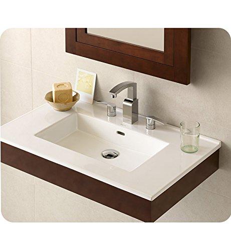 ronbow Essentials Larissa 81,3cm sinktop mit 20,3cm breitgefächert Wasserhahn Loch in Weiß 215532–8-wh ('w-badezimmer-eitelkeit)