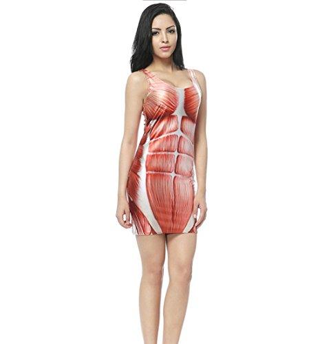 DuuoZy Frauen Sexy Bloody Bodycon Kleid Cosplay Vampir Zombie Kostüm , 2 , one (Kostüme Wilde Und Verrückte Zwei)