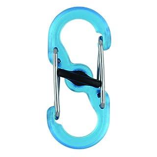 Nite Ize S-Biner MicroLock, Kunststoff, durchsichtig-blau, 2 STK Doppelhaken, Stück