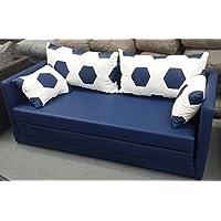 Preisvergleich für Fussball Möbel Schlafsofa 2-sitzer XL 160 Weiss blau