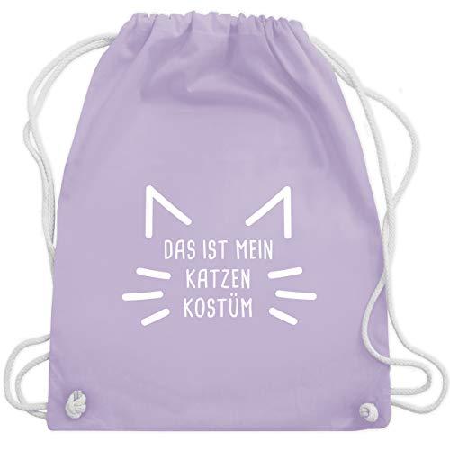 Link Kostüm Katze - Karneval & Fasching - Das ist mein Katzen Kostüm - Unisize - Pastell Lila - WM110 - Turnbeutel & Gym Bag