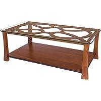 Tavolino rettangolare ciliegio massiccio 2cassetti vassoio