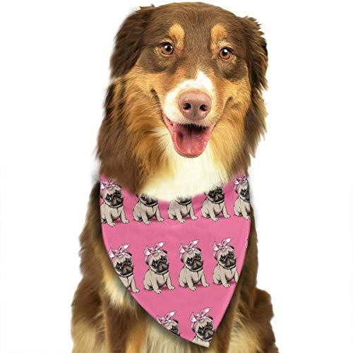 Hipiyoled Cute Funny Pet Schal Shamefaced Rosa Welpen Adjustbale Pet Bandanas Halsbänder Dreieck Halstuch -