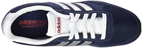 adidas Neo City Racer, Chaussures de Running Compétition Homme, Rouge conavy-msilve-powred