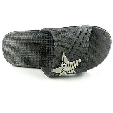 Slippers & amp da uomo;Comfort PVC Primavera schermo Casual Colore grigio scuro Blu Navy piatto, Marina Blu sandali Dark Grey