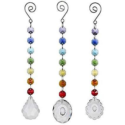 al Prism Rainbow Maker Chakra Aufhängen Suncatcher Sonne cacther mit Ocatgon Perlen für Geschenk, 3Stück ()
