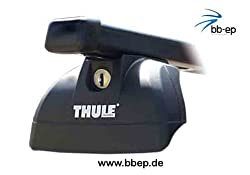 Thule Stahldachträger 90433670 Komplett System inkl. Schloss für HYUNDAI i40 mit Fixpunkten - inkl. 1 l Kroon Oil ScreenWash