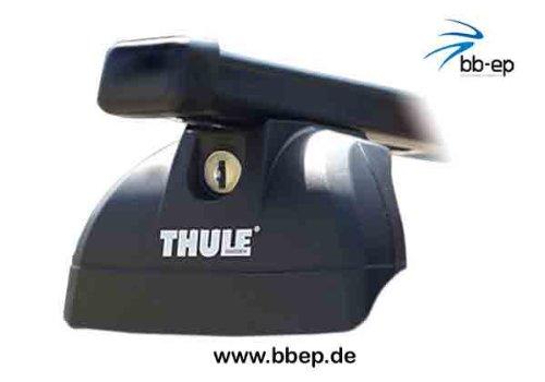 Thule Barre Portatutto in Acciaio 90433633, Sistema completo con serratura per Fiat Panda 4X 4con integrata sul tetto–incl. 1L kroon Oil Scree nwash