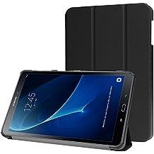 Funda Samsung Galaxy Tab A 10.1 2016 (A6) Case, con [Auto Sueño / Estela] HZSSEC Smart Cover Case Ligera Funda Cáscara para Samsung Galaxy Tab A 10,1 pulgadas 2016 T580N / T585N Tablet, Negro