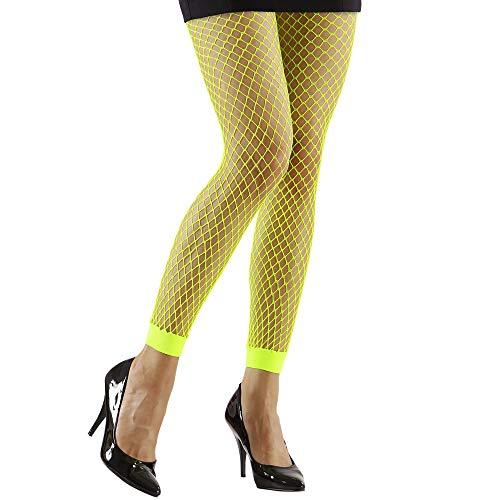 Widmann - Neon Netzleggings für Damen - Netzstrumpfhose Neon-grün