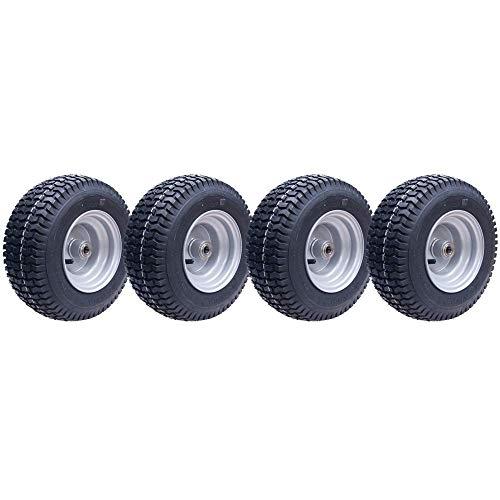 Parnells 13x5.00-6 Gras Reifen auf Felge 16mm BB, Rasenmäher, Quad Atv Anhänger - Set mit 4