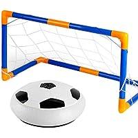Mengonee Bola de Formación niños Air Power Fútbol Fútbol Deportes Niños juguete LED de iluminación de interior de la bola de la libración con la puerta