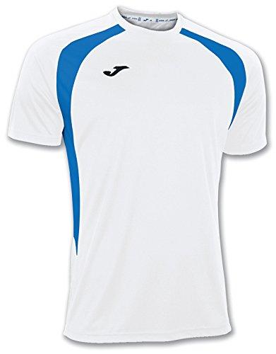 Joma 100014.207 - Camiseta de equipación de manga corta para hombre, color blanco/azul royal, talla XL