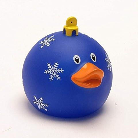 Quietscheente Navidad bola azul pato, pato de goma, patos de goma, pato de goma, pato de goma, figura de juguete, juguetes de baño de caucho, LiLaLu 1971