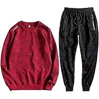 CAI&HONG-GUO GCH Suéter para Hombre Primavera y Otoño Conjunto de Camuflaje Casual, C, 6XL