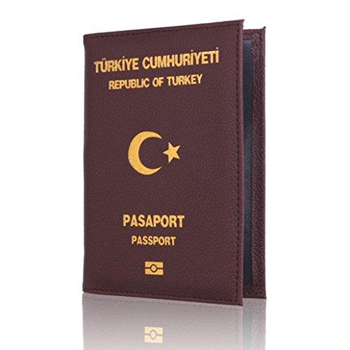 """Preisvergleich Produktbild Wawer Dedicated Nizza PU Leder Travel Passport ID Kartenabdeckung Halter Fallschutz Ca. 14, 2 cm x 9, 8 cm / 5, 59 """"x 3, 86"""" Einfach zu tragen bequem zu bedienen (Colour J)"""