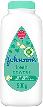 JOHNSON'S Baby Diapering Powder, Fresh, 500g