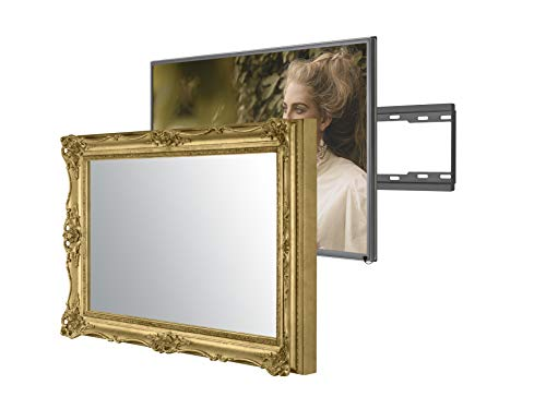 Handmade Framed Mirror TV with Samsung to Blend This Hidden Mirrored Television into Your Home or Business Decor (32 Inch, Surrey Gold)