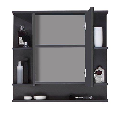 Spiegelschrank Graphit, 72 cm - 2