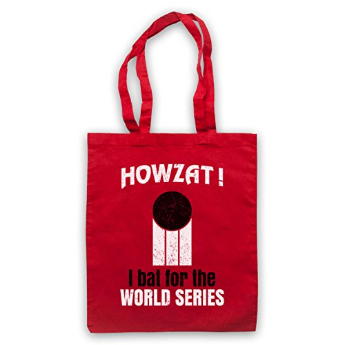 Howzat I Bat For The World Series As Worn By Dennis Lillee Umhangetaschen Rot