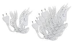 VBS 5er-Pack Mini-Lichterkette 10er weiß mit Schalter warmweiß