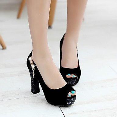 Talloni delle donne Primavera Autunno scarpe formali in similpelle per ufficio Outdoor & amp;Partito & amp Carriera;Abito da sera casuale tacco grosso Sp US8.5 / EU39 / UK6.5 / CN40