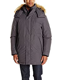 Marc New York by Andrew Marc Men's Niagra Down Parka W/Removable Faux Fur Trimmed Hood