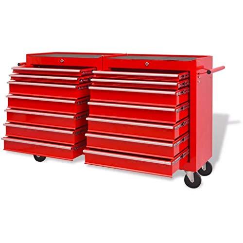 Generic - Rueda de Almacenamiento con Ruedas para cajones, Color Rojo, Resistente, para mecánica, Taller, mecánico, Taller o Taller