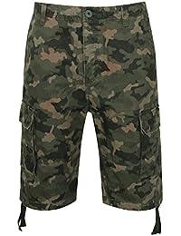 Neu Herren Cargo Combat von Denim Farbe Chino Shorts Sommer Knielang Urlaub Gym