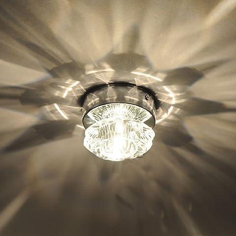 Plafonnier Led - Amzdeal plafonnier led en cristal, lampe design