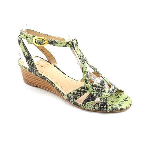 Tahari Hanover Femmes Cuir Sandales Compensés Jade Green