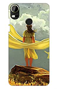 AMAN A Girl Painting 3D Back Cover for HTC Desire 10 Pro