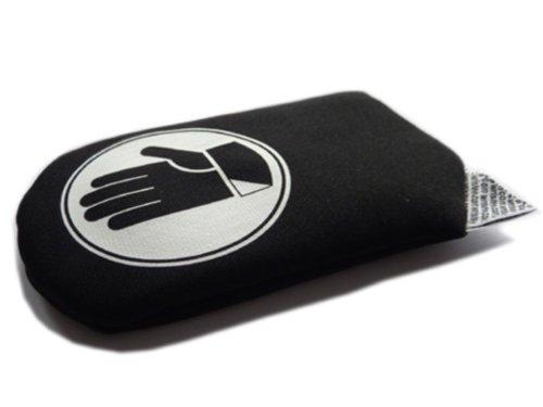 wristee No-Gel Handauflage, Handgelenkauflage ohne Mauspad, Handballenauflage, ergonomisch, schwarz